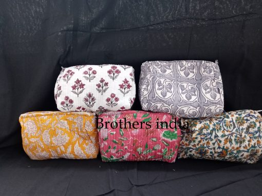 Women Toiletry Bag - Boho Makeup Bag Gift For Her Travel Pouch Set Of 5 Pcs Lot Bags