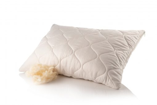 Wool Pillow, Organic Sleeping Soft Filled Hypoallergenic King Bed Wedding Gift
