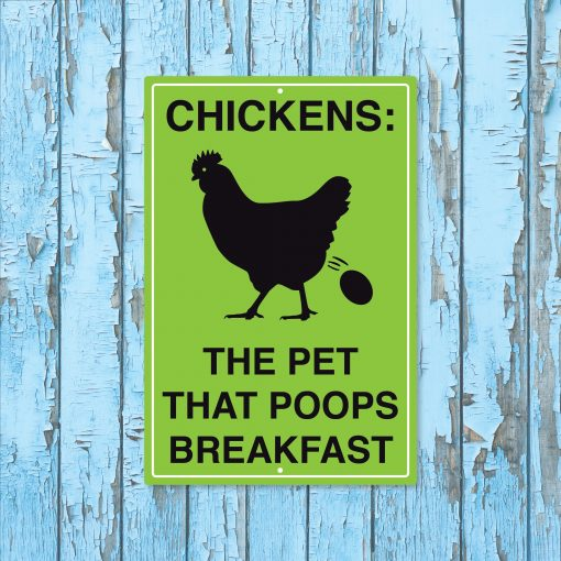 Chicken Signs, Coop Farmhouse Wall Decor, Rustic Metal Sign