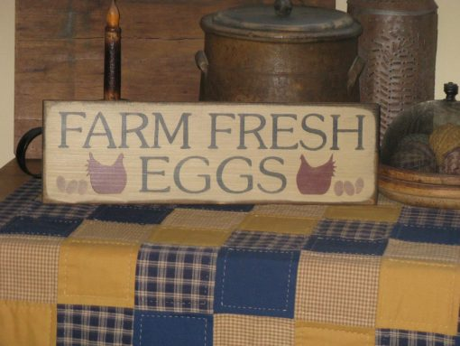 Handmade Farm Fresh Eggs Sign With Chickens Hens Primitive Rustic Kitchen Decor For The Home Or Chicken Coop Wood