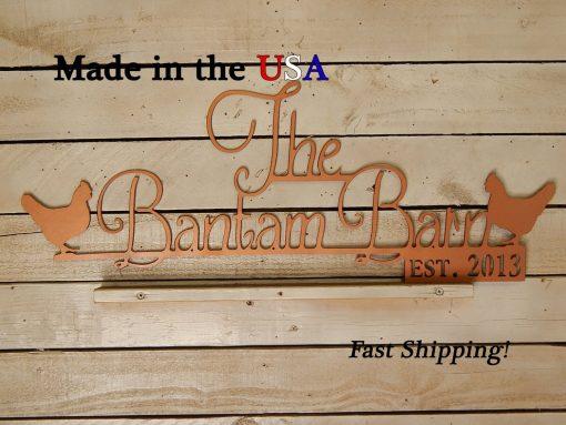 Family Farm Sign, Chicken Decor, Coop Established Date Any, Barn Established, Metal, S1147