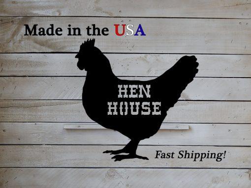 Hen House, Chicken Art, Coop Decor, Metal, Country Sign, Rooster Kitchen, Western, Folk S1063