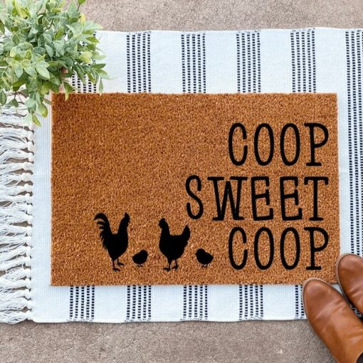 Chicken Coop Decor, Sweet Doormat, Gifts, Signs, Farm Funny Welcome Mat, Mom, Owner