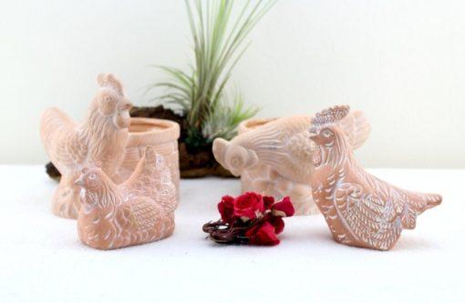 Vintage Chicken Coop Ceramic Handmade 70S Tischdekoration Made in Germany Mid Century Easter Decoration Bowl