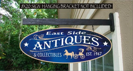 Antiques Sign Horse & Buggy Country Family Name Custom Personalized