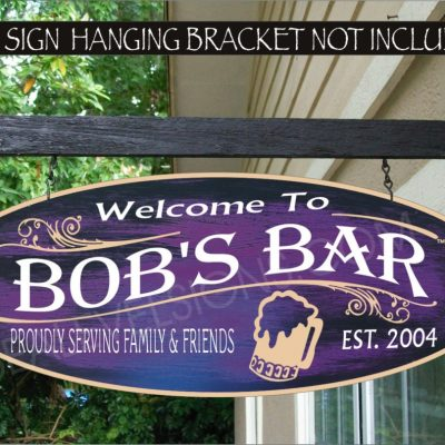 2019 Beer Mug Gifts For Men, Bar Gift Dad, Man Cave Gift, Custom Personalized Sign