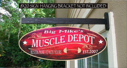 2019 Bar Bells Weight Lifting Running Workout Gym Gift Custom Personalized Sign