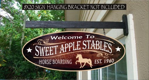 2019 Horse Stable Sign, Walking Horse, Barn Farm, Ranch, Cowboy, Cowgirl Gift Family Name Custom Personalized Sign