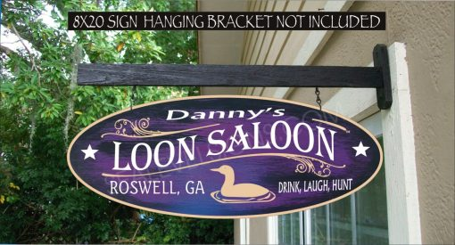 2019 Loon Duck Hunter Lake House Gift Family Name Custom Personalized Sign