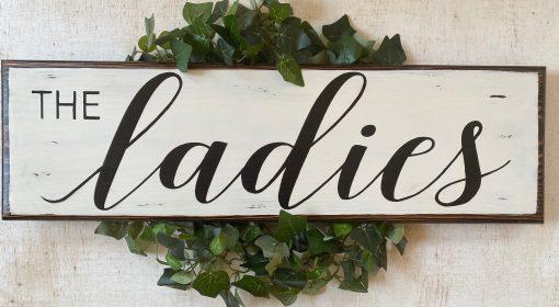 """Chicken Coop Wood Sign The Ladies Chicken Decor"""""""