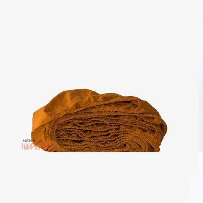 Cinnamon Cotton Sheet/Bedding Set Pure Organic Fitted Sheet With 2 Matching Pillow Cases
