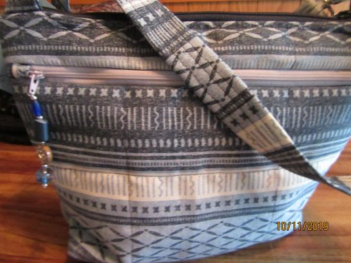 Water Repellant Cross Body Purse With Secured Zipper 100% Handmade