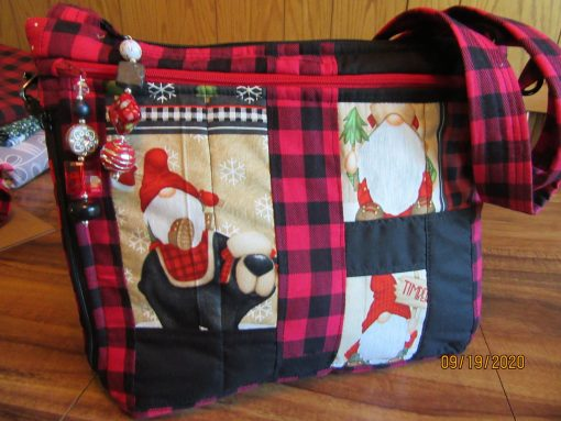 Woodsy Gnomes Cross Body Fabric Purse With Secured Zipper 100% Handmade