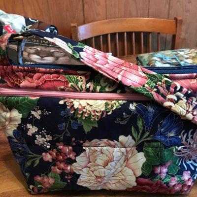 Garden Cross Body Fabric Purse With Secured Zipper 100% Handmade