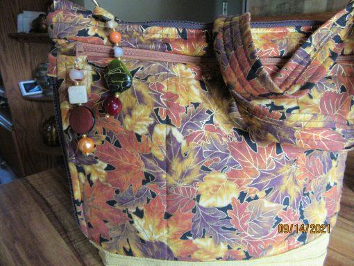 Autumn Leaves Cross Body Fabric Purse 100% Handmade