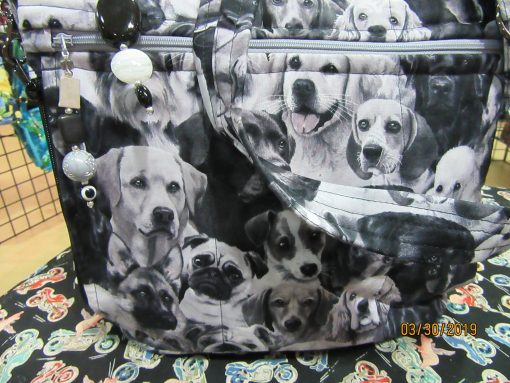 Dogs Cross Body Fabric Purse 100% Handmade