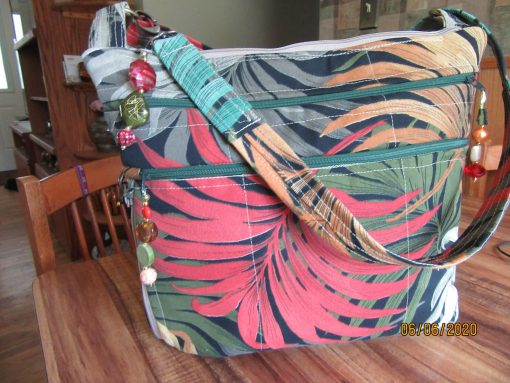 Water Repellant Cross Body Camo Purse With Secured Zipper 100% Handmade