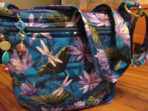 Gorgeous Dragonflies Fabric Cross Body Purse 100% Handmade
