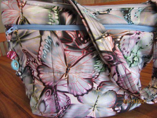 stunning Butterflies Cross Body Fabric Purse 100% Handmade