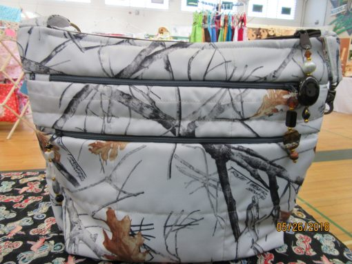 Gorgeous Winter Camo Water Repellant Cross Body Purse With Secured Zipper 100% Handmade