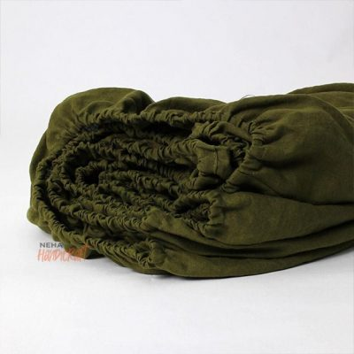 Olive Green Cotton Sheet/Bedding Set Pure Organic Fitted Sheet With 2 Matching Pillow Cases