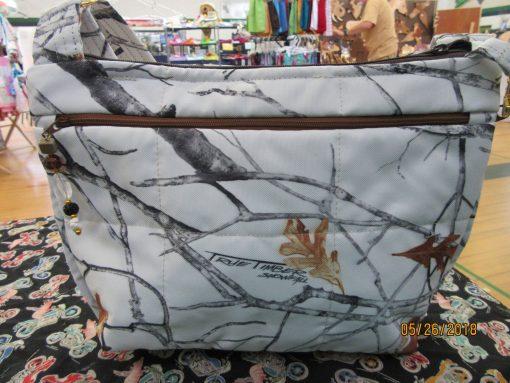 Gorgeous Winter Camo Water Repellant Fabric Purse 100% Handmade