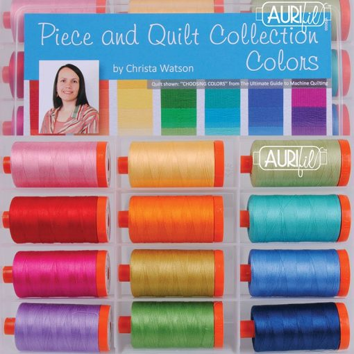 Aurifil Piece & Quilt Collection Colors Christa Watson Mako Cotton 50 Weight Wt Large Spool Quilting Thread Set Of 12 Cw50Pqc12