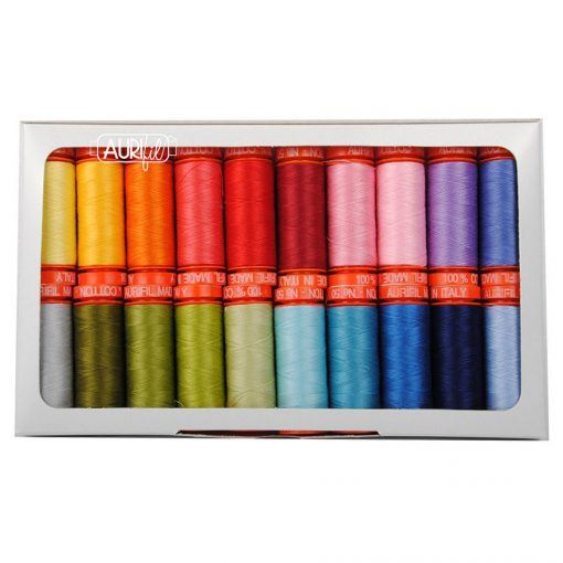 Aurifil Quilter's Palette Collection By Jill Finley 50 Weight Wt Rainbow Cotton Quilting Thread Set Of 20 Jf50Qp20