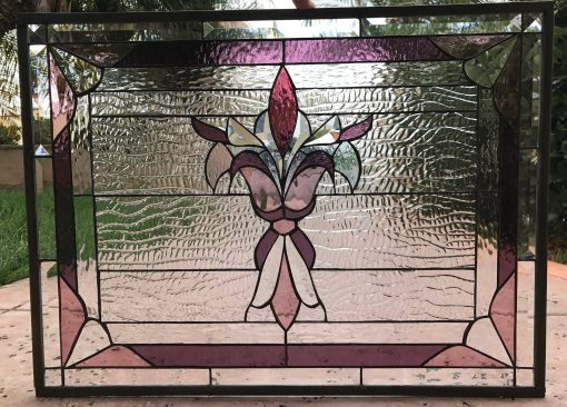 Victorian Stained Glass Window Panel, Hangings - Westchester Gothic Art Pattern Clear Abstract Customizable Item#313