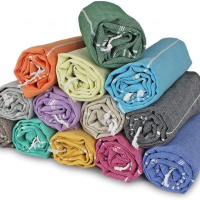 Pack Of 13 Bulk Towels Satış Seti Xxl Türk Pamuklu Plaj Banyosu Spa Sauna Hamamı Yoga Spor Salonu Hamam Havlusu Fouta Peştemal