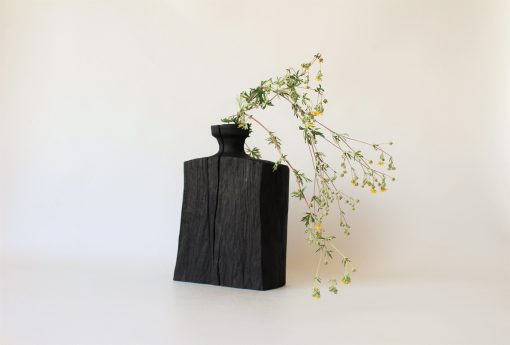 Wooden Vase For Dried Flower, Natural Farmhouse Decor, Hand Turned Art Deco