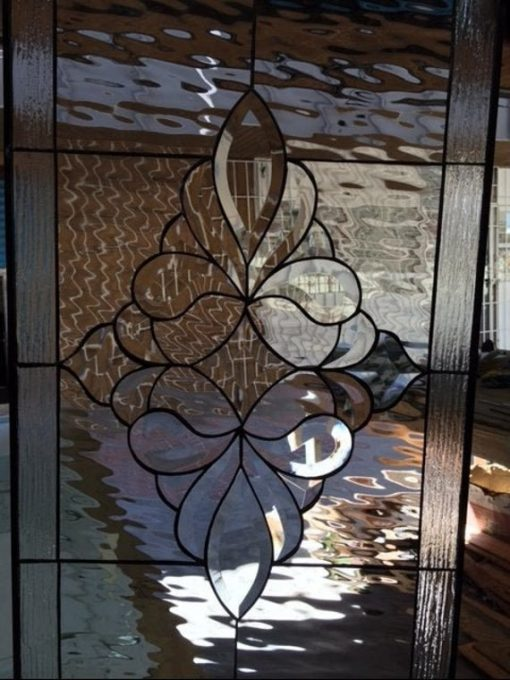 Stunning Beveled Clear Stained Glass Window Panel - Danville Traditional & Classic Handmade Art Customizable Item#149