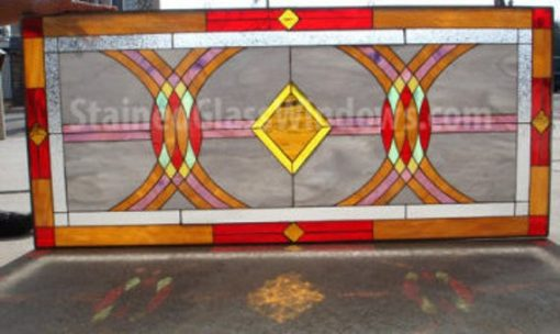 Geometric Stained Glass Window Panel Hangings - Leaded Art Abstract Modern Custom Made Item#446