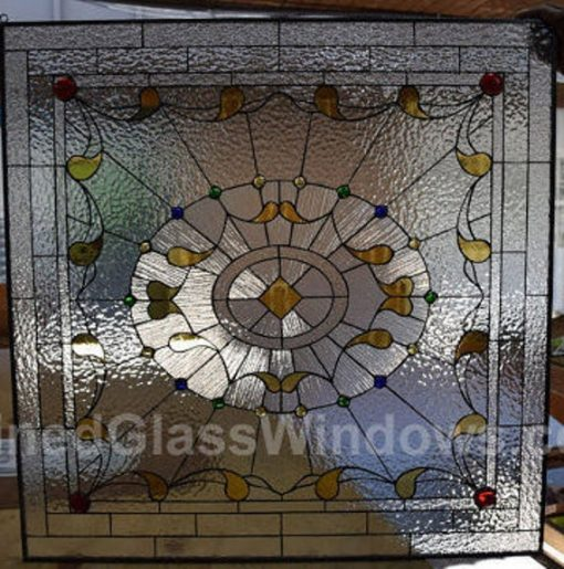 stained Glass Window Panel Hangings - Wall Decor Art Abstract Victorian Gift Customizable Item#466
