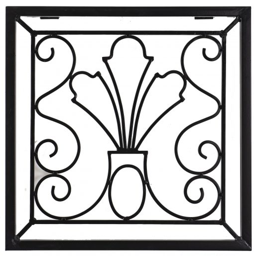 H Potter Wall Art Decor Indoor Outdoor Metal Iron For Deck Patio Balcony Ivy Trellis Square Black Finish 24 Square