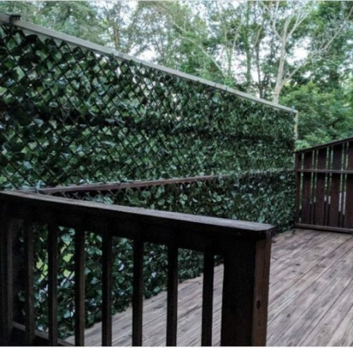 Expandable Faux Ivy Privacy Fence Screen For Patio Outdoor Balcony Bedroom Decor, Artificial Leaf Wall Decoration Fencing Panel(Single Sided
