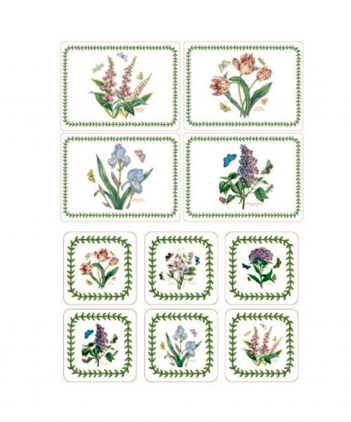 10 Piece Botanic Garden New Placemats & Coaster Set