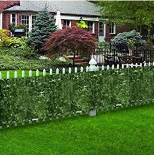 98 X 39 Inch Artificial Faux Ivy Hedge Privacy Fence Wall Screen, Leaf & Vine Decoration For Outdoor Decor, Garden, Yard