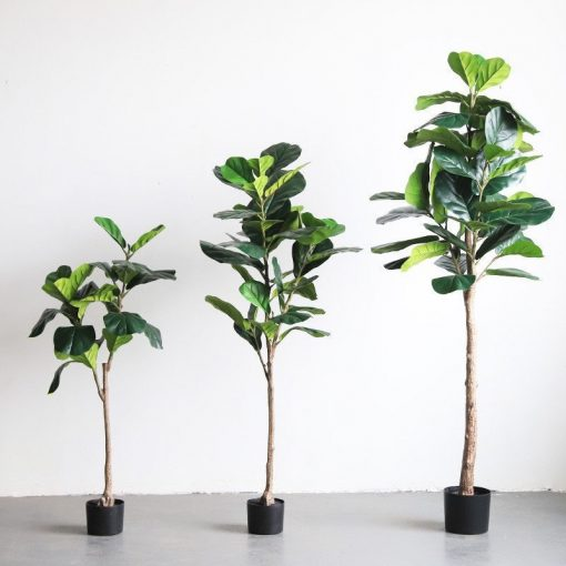 Artificial Fiddle Leaf Fig Tree   Faux Plant Natural Accent
