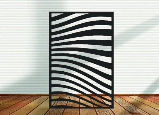 Metal Panel, Privacy Screen, Fence, Decorative Wall Art, Garden Indoor & Outdoor - Abstracts N Waves 6