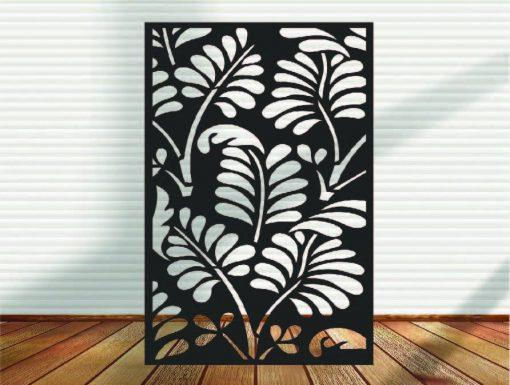 Metal Panel, Privacy Screen, Fence, Decorative Wall Art, Garden Indoor & Outdoor - Ferns