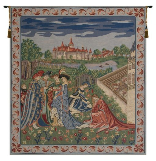Duke De Berry European Wall Tapestry - Medieval Jacquard Hanging Modern Belgian Décor Art Woven Decorative