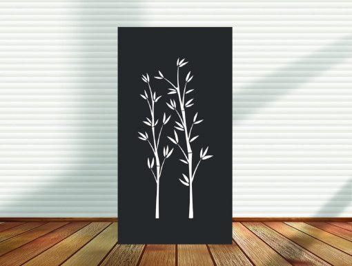 Metal Panel, Privacy Screen, Fence, Decorative Wall Art, Garden Indoor & Outdoor - Bamboo   Pid8