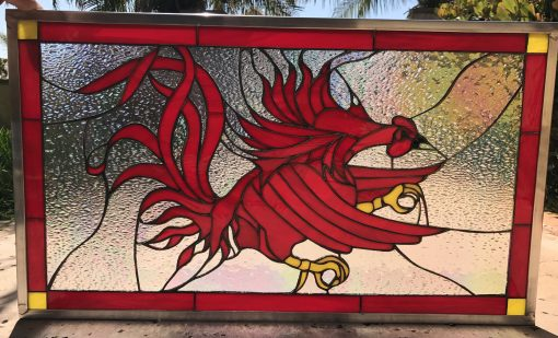 University Of South Carolina Gamecock - Custom Glass Window Panel Hangings Sport Logo Icon Symbol Business Sign Customizable Item#279