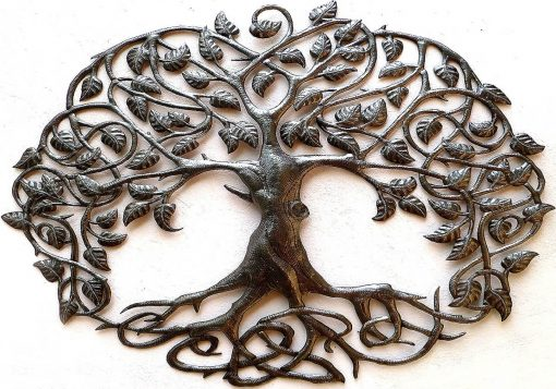 Tree Wall Decor, Metal Tree Of Life, Wall Art, Art Hanging, Large Haitian Recycled Steel Drum, 345