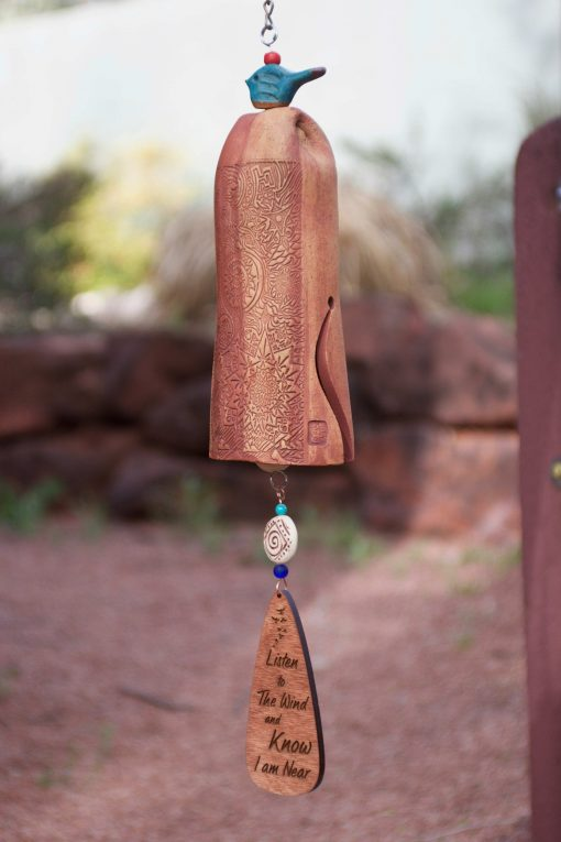 Handmade Sympathy Gift For Loss Of Father, Personalized Memorial Wind Chimes Outdoors