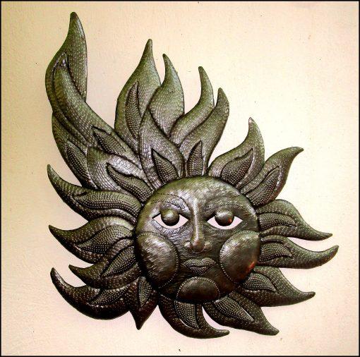 Sun Metal Art Wall Decor, Metal Art, Haitian Garden Sun, Outdoor Sun 18 X 20, S202