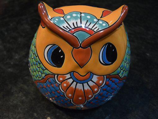 "Owl Plantar Talavera Pottery Ceramic Kitchen Patio Garden Décor H 9 X W D 6 """""