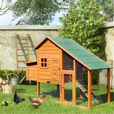 Pet Rabbit Hutch Wooden House Chicken Coop For Small Animals Courtyard Apartment