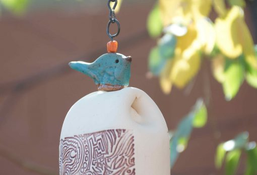 Gift For Him | Manly Outdoor Rustic Gifts For Men Nature Lover Ceramic Wind Chime Blue Bird Sculpture Birthday